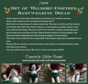 Set of Waldor-Inspired Babywearing Dolls