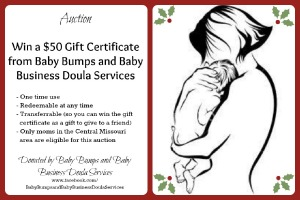 $50 Gift Certificate to Baby Bumps and Baby Business Doula Services