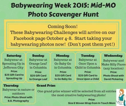 Babywearing Week- Mid-MOPhoto Scavenger Hunt